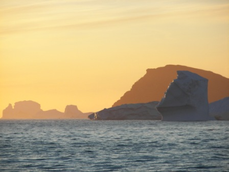 Atardecer en la Antártida