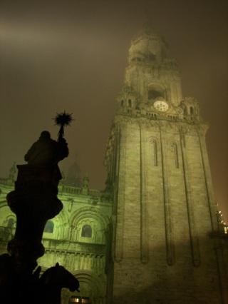 Catedral Santiago de noche