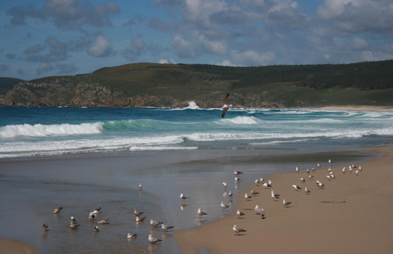 Playa de O Rostro en Galicia
