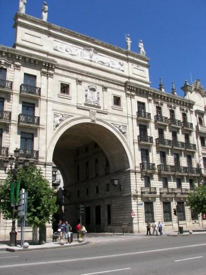 Fachada Banco Santander