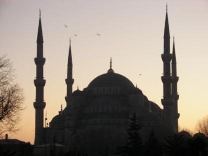 Atardecer en Sultanahmet