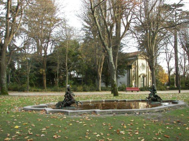Fuente en el Palacio de Cristal