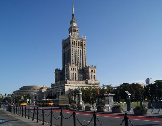 Rascacielo en Varsovia, símbolo del pasado comunista