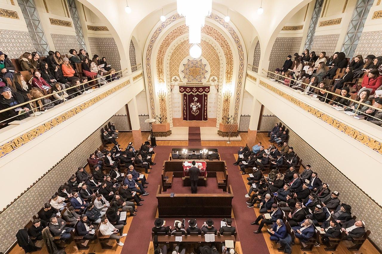 Interior de la Sinagoga de Oporto